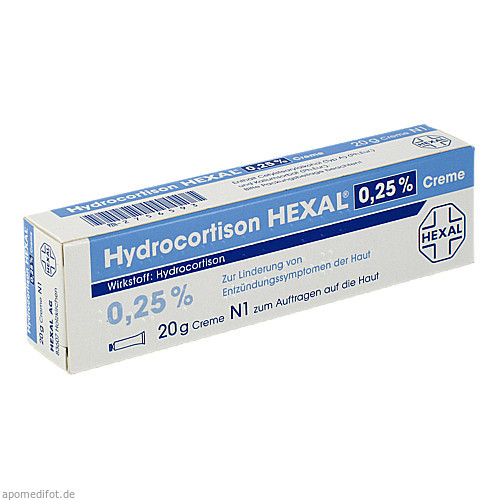 HYDROCORTISON HEXAL 0,25% Creme, 20 G, Hexal AG