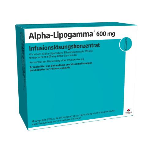 Alpha-Lipogamma 600 Infusionslösungskonzentrat, 10X24 ML, Wörwag Pharma GmbH & Co. KG