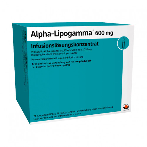 Alpha-Lipogamma 600 Infusionslösungskonzentrat, 20X24 ML, Wörwag Pharma GmbH & Co. KG