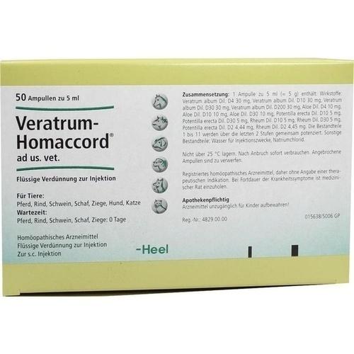 VERATRUM HOMACCORD ad us.vet.Ampullen, 50 ST, Biologische Heilmittel Heel GmbH