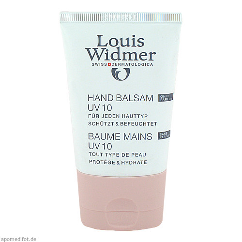 WIDMER Hand Balsam UV 10 unparfümiert, 50 ML, Louis Widmer GmbH