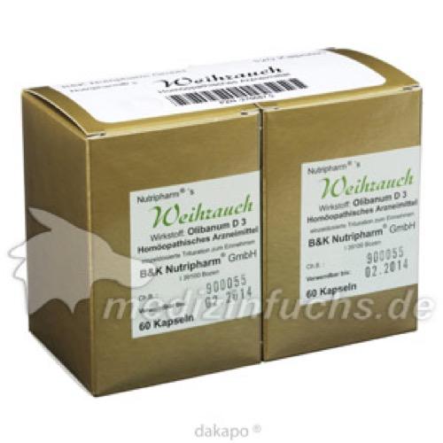 WEIHRAUCH KAPSELN, 120 ST, B&K Nutripharm GmbH