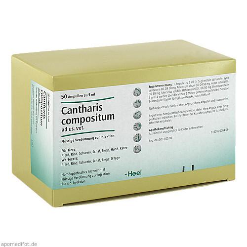 CANTHARIS COMPOSITUM ad us.vet.Ampullen, 50 ST, Biologische Heilmittel Heel GmbH