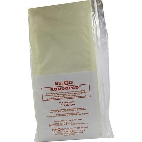 RONDOPAD SPEZ KOMPR 10X20, 10 ST, Dewe+Co Verbandstoff-Fabrik Dr. Wüsthoff & Co.