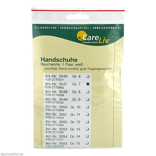 Handschuhe Baumwolle Gr.7, 2 ST, Careliv Produkte Ohg
