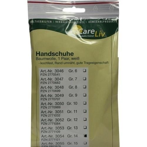 Handschuhe Baumwolle Gr.14, 2 ST, Careliv Produkte Ohg