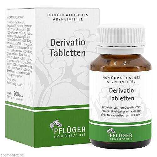 DERIVATIO Tabletten, 200 ST, Homöopathisches Laboratorium Alexander Pflüger GmbH & Co. KG