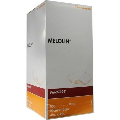 MELOLIN 10X10 WUNDAUFLAGE STERIL, 100 ST, Smith & Nephew GmbH