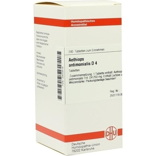 AETHIOPS ANTIMON D 4, 200 ST, Dhu-Arzneimittel GmbH & Co. KG