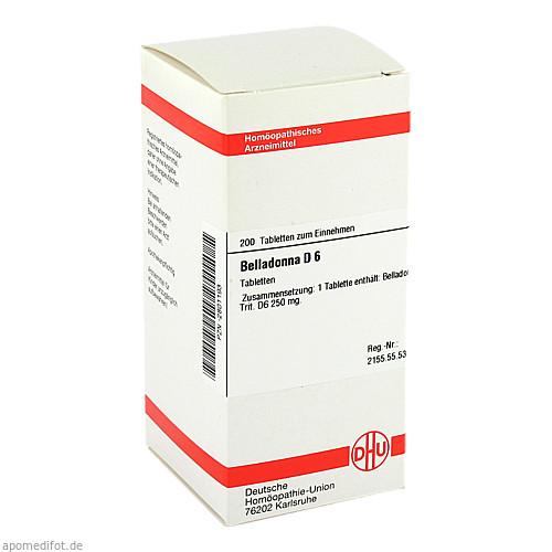 BELLADONNA D 6, 200 ST, Dhu-Arzneimittel GmbH & Co. KG