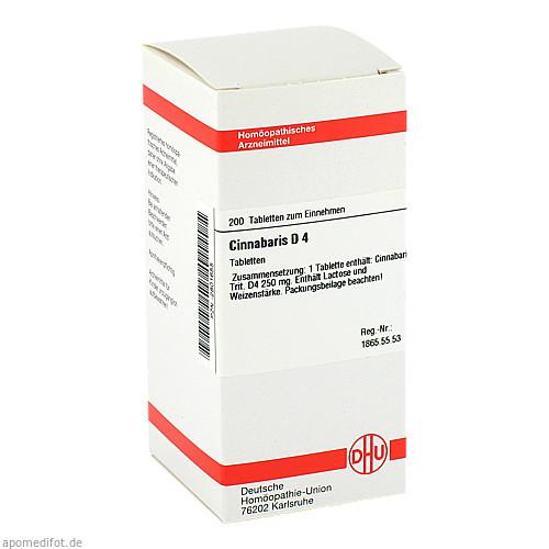 CINNABARIS D 4, 200 ST, Dhu-Arzneimittel GmbH & Co. KG