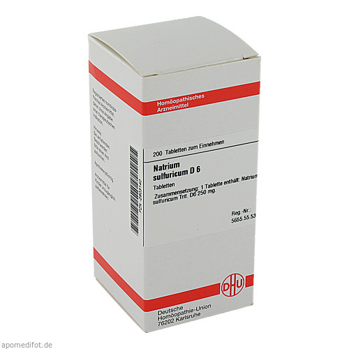 NATRIUM SULF D 6, 200 ST, Dhu-Arzneimittel GmbH & Co. KG
