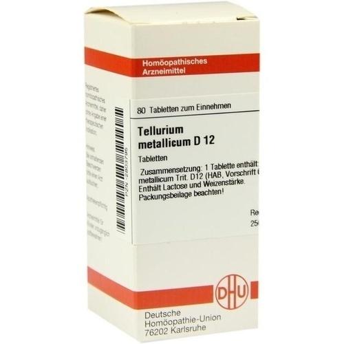 TELLURIUM METALLICUM D12, 80 ST, Dhu-Arzneimittel GmbH & Co. KG