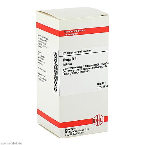 THUJA D 4, 200 ST, Dhu-Arzneimittel GmbH & Co. KG