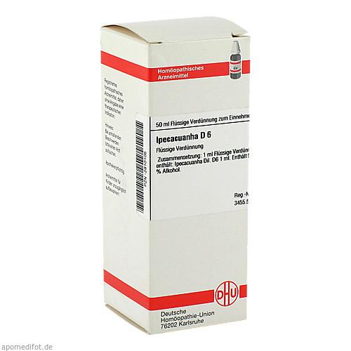 IPECACUANHA D 6, 50 ML, Dhu-Arzneimittel GmbH & Co. KG