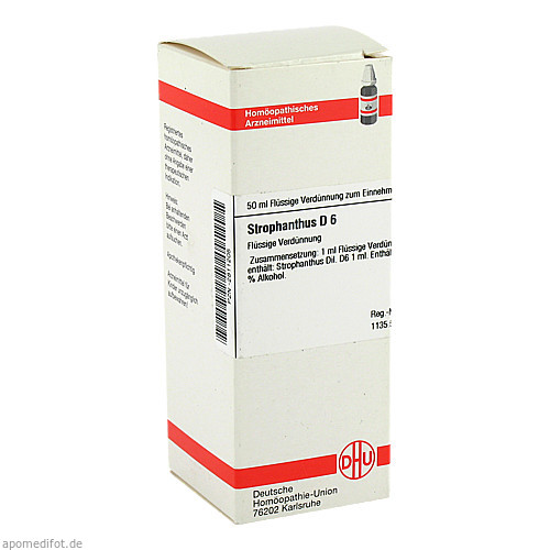STROPHANTHUS D 6 Dilution, 50 ML, DHU-Arzneimittel GmbH & Co. KG