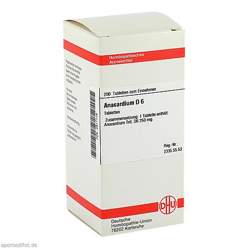 ANACARDIUM D 6, 200 ST, Dhu-Arzneimittel GmbH & Co. KG