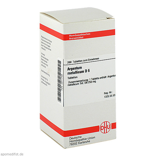 ARGENTUM MET D 6, 200 ST, Dhu-Arzneimittel GmbH & Co. KG