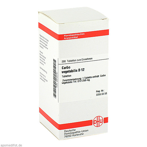 CARBO VEG D12, 200 ST, Dhu-Arzneimittel GmbH & Co. KG
