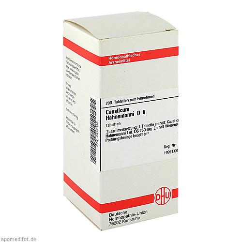 CAUSTICUM HAHNEM D 6, 200 ST, Dhu-Arzneimittel GmbH & Co. KG