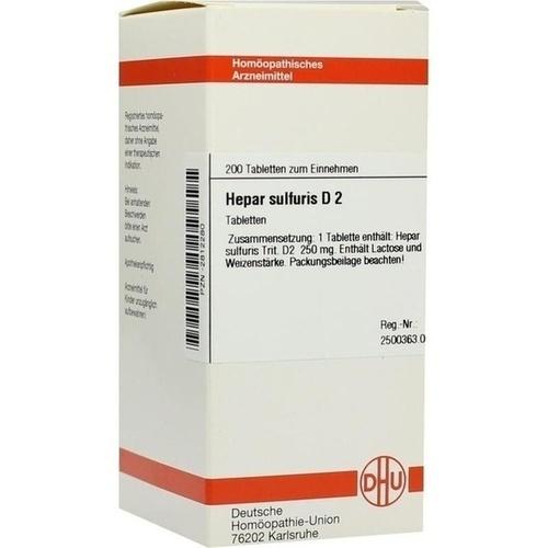 HEPAR SULF D 2, 200 ST, Dhu-Arzneimittel GmbH & Co. KG