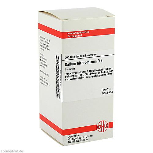 KALIUM BICHROM D 8, 200 ST, Dhu-Arzneimittel GmbH & Co. KG