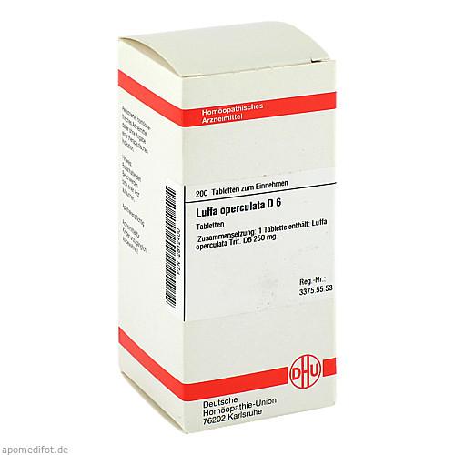 LUFFA OPERCUL D 6, 200 ST, Dhu-Arzneimittel GmbH & Co. KG