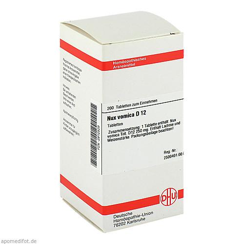 NUX VOMICA D12, 200 ST, Dhu-Arzneimittel GmbH & Co. KG