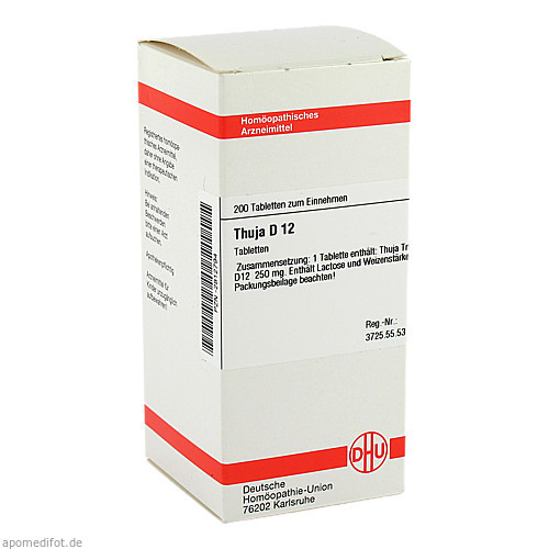 THUJA D12, 200 ST, Dhu-Arzneimittel GmbH & Co. KG