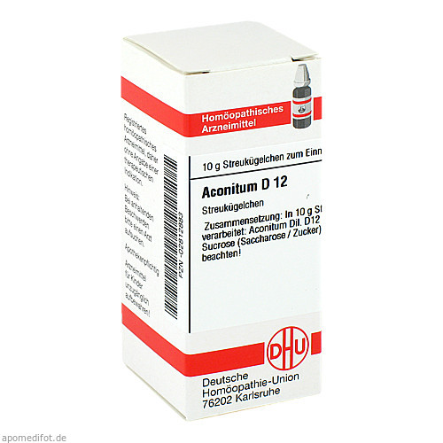 ACONITUM D 12 Globuli, 10 G, DHU-Arzneimittel GmbH & Co. KG