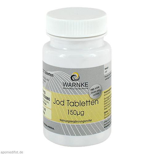 Jod-Tabletten 150ug, 100 ST, Warnke Vitalstoffe GmbH