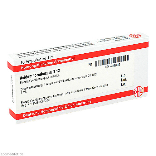 ACIDUM FORMICICUM D 12 Ampullen, 10X1 ML, DHU-Arzneimittel GmbH & Co. KG