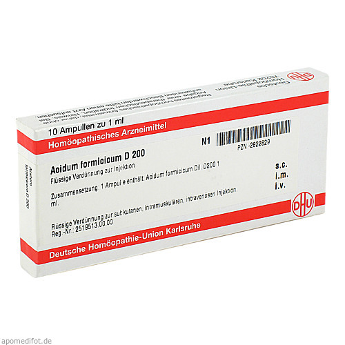 ACIDUM FORMIC D200, 10X1 ML, Dhu-Arzneimittel GmbH & Co. KG