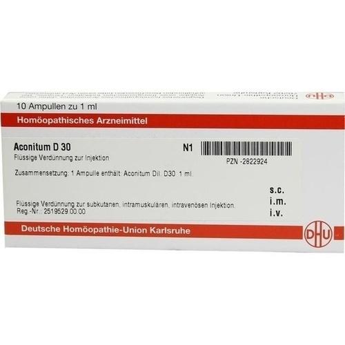 ACONITUM D 30 Ampullen, 10X1 ML, DHU-Arzneimittel GmbH & Co. KG
