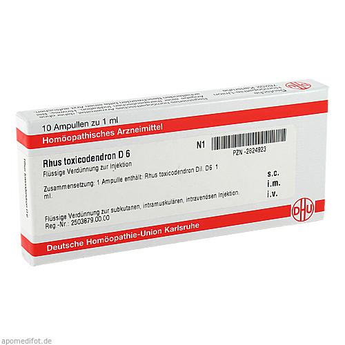 RHUS TOXICODENDRON D 6 Ampullen, 10X1 ML, DHU-Arzneimittel GmbH & Co. KG