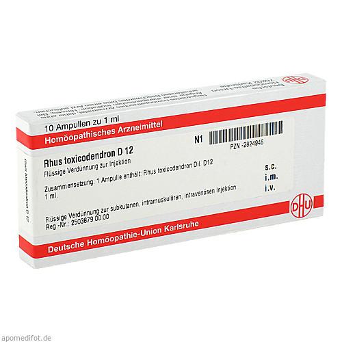 RHUS TOXICODENDRON D 12 Ampullen, 10X1 ML, DHU-Arzneimittel GmbH & Co. KG
