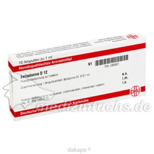 BELLADONNA D 12 Ampullen, 10X1 ML, DHU-Arzneimittel GmbH & Co. KG