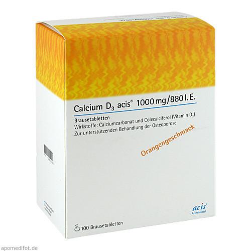 Calcium D3 acis 1000mg/880I.E., 100 ST, Acis Arzneimittel GmbH