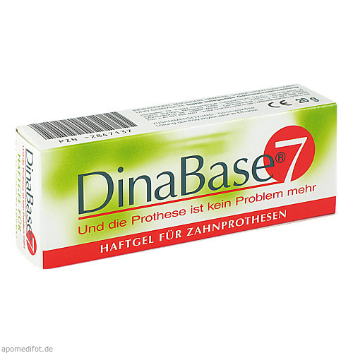 DinaBase 7(unterfüttern.Haftmaterial f.Zahnproth.), 1 ST, Arando Ohg