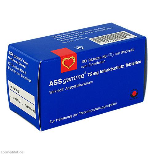 ASS-gamma 75mg Tabletten, 100 ST, Wörwag Pharma GmbH & Co. KG