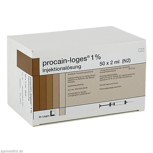procain-Loges 1% Injektionslösung, 50X2 ML, Dr. Loges + Co. GmbH