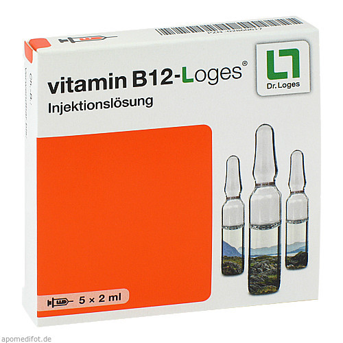 vitamin B 12-loges Injektionslösung, 5X2 ML, Dr. Loges + Co. GmbH