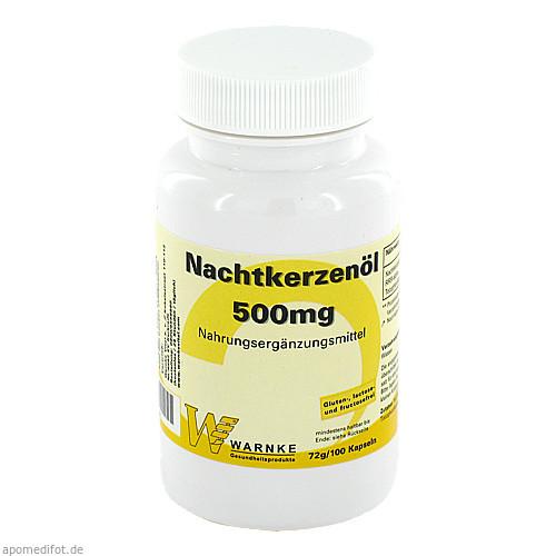 Nachtkerzenöl 500mg, 100 ST, Warnke Vitalstoffe GmbH