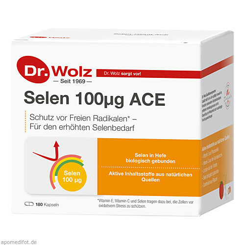 Selen ACE 100mcg 180 Tage, 180 ST, Dr. Wolz Zell GmbH
