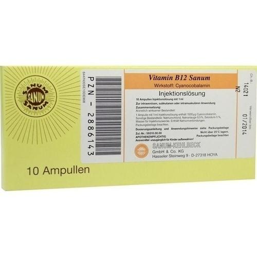 Vitamin B12 Sanum, 10X1 ML, Sanum-Kehlbeck GmbH & Co. KG