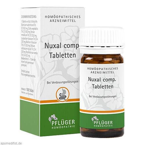 Nuxal comp. Tabletten, 100 ST, Homöopathisches Laboratorium Alexander Pflüger GmbH & Co. KG