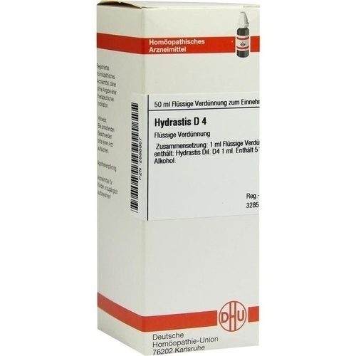 HYDRASTIS D 4, 50 ML, Dhu-Arzneimittel GmbH & Co. KG