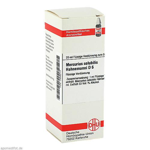 MERCURIUS SOLUB HAHNEM D 6, 20 ML, Dhu-Arzneimittel GmbH & Co. KG