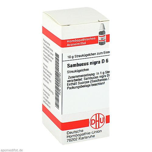 SAMBUCUS NIGRA D 6, 10 G, Dhu-Arzneimittel GmbH & Co. KG