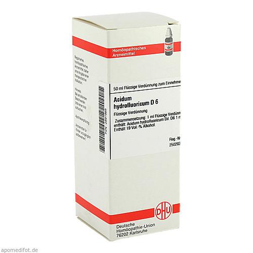 ACIDUM HYDROFLUOR D 6, 50 ML, Dhu-Arzneimittel GmbH & Co. KG